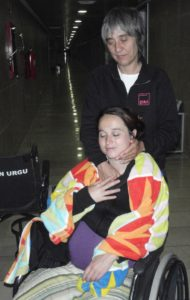 Llegada al hospital de Inca