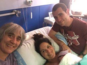 Parto hospital Cris, Carlos y Llucia Doula