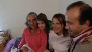 Familia de Karina con su doula